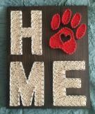 string art home- paw