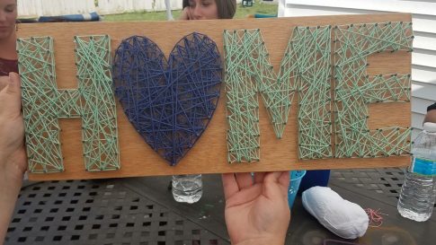 String Art - Home with heart