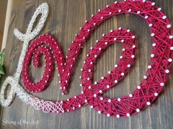 string art - love