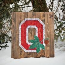 O - with buckey leaf