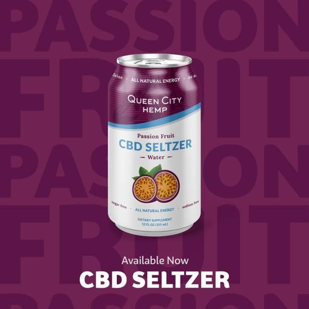 passion fruit CBD seltzer water 2018