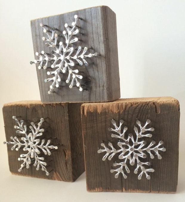 3 snowflakes - $35 - 8x8 boards