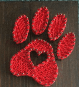 HOME - DOG PAW - STRING ART