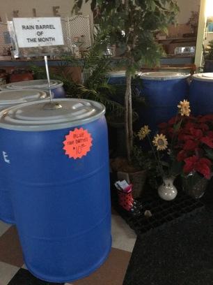 blue barrels with lid